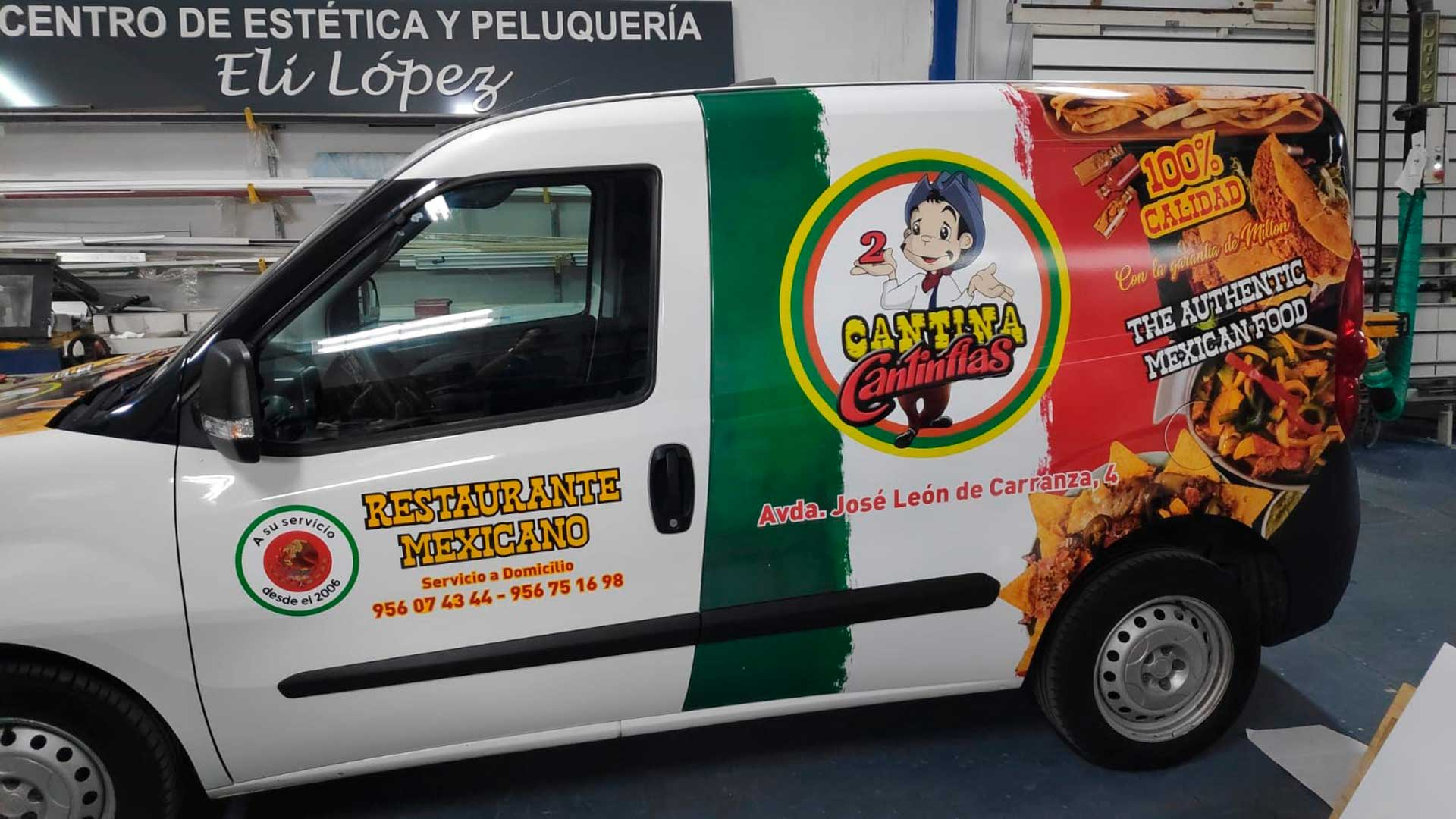 Rotulación vehículo Cantina Cantinflas de Cádiz